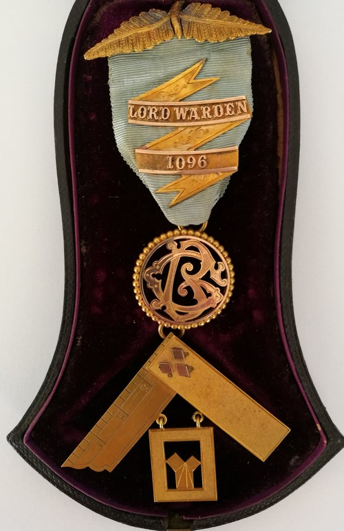 The Past Masters Jewel issued to Bro George Beale on the 17th April 1888